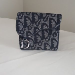 AUTHENTIC DIOR CANVAS SMALL WALLET
